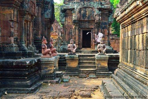 Комплекс храмов Бантей Стрей в Камбоджи Pokemon Go