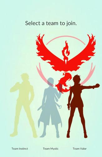 Команда Pokemon Go Отвага (красные, Valor)