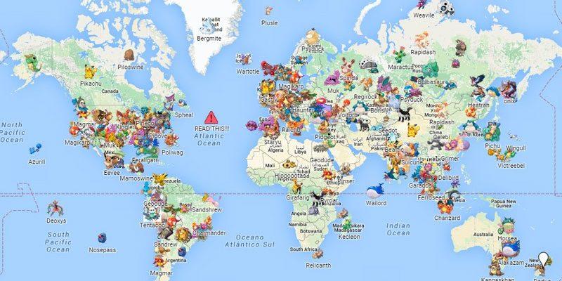 Карта покемонов в Pokemon Go