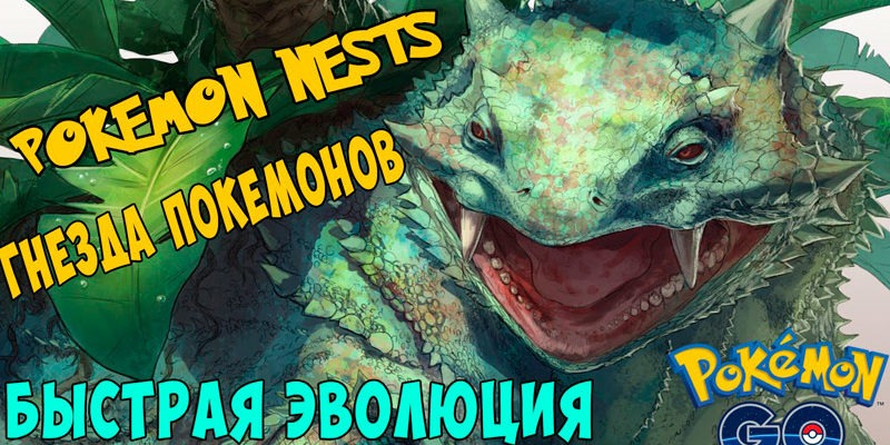 Гнезда покемонов в Покемон Го, карта гнезд в Pokemon Go