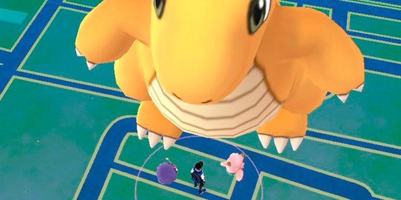 Лаг в Pokemon GO, превратил покемона в гиганта