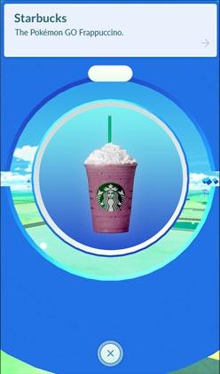 Starbucks официальный партнер Pokemon Go