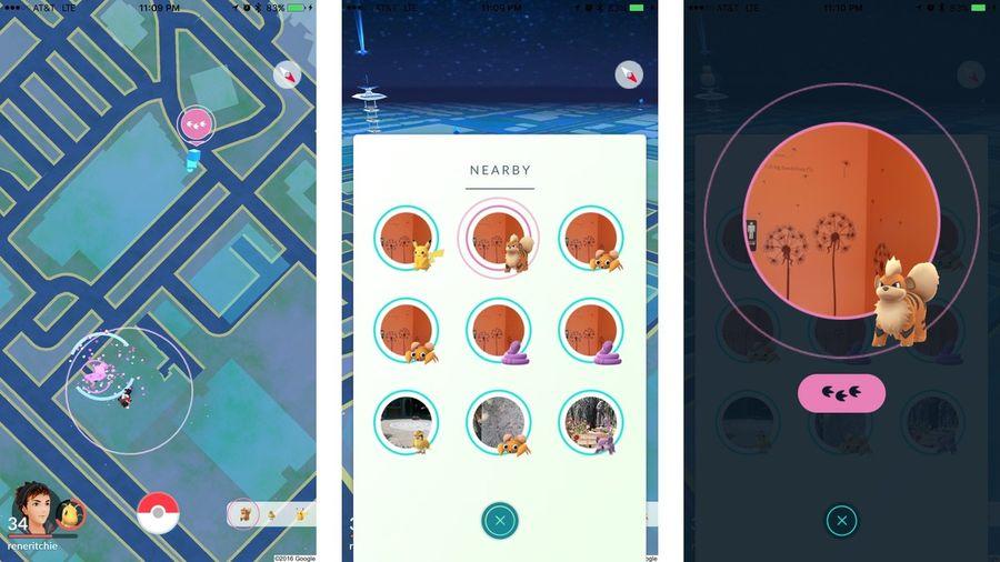 """Как искать покемонов с помощью """"Nearby"""" в Pokemon Go?"""
